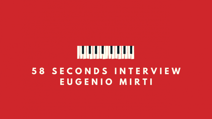 58 seconds interview Gianluca Palazzo Eugenio Mirti