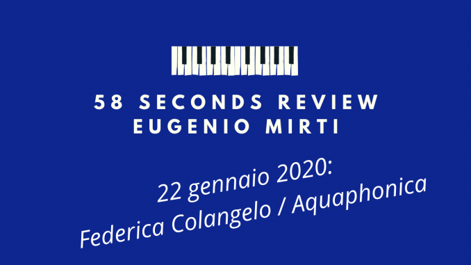 58 seconds review aquaphonica endless tail colangelo