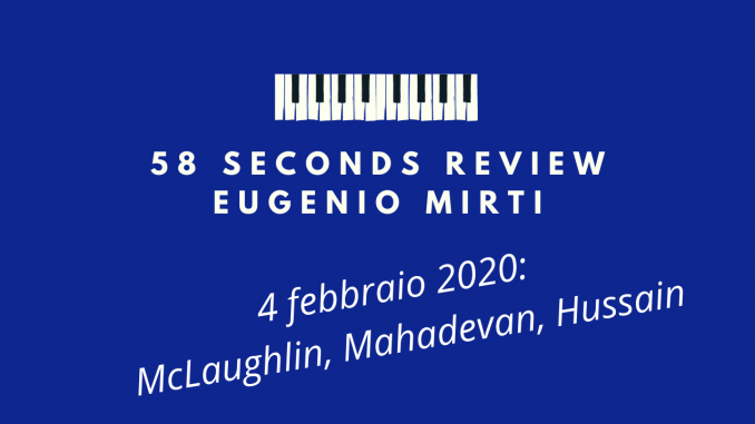 58 seconds review Is That So? McLaughlin Mahadevan