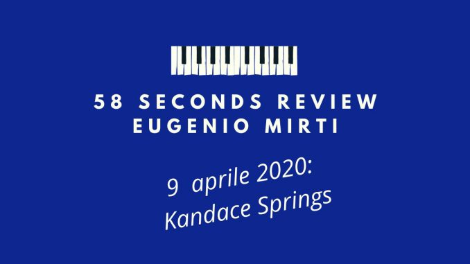 58 seconds review kandace springs blue note 2020